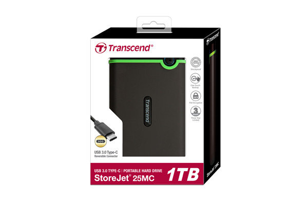Внешний жесткий диск 2,5 1TB Transcend TS1TSJ25MC Type C, фото 2