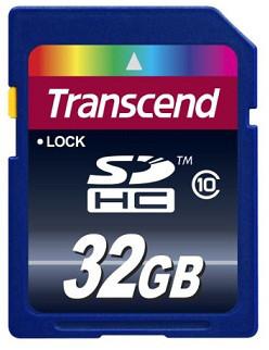 Карта памяти SD 32GB Class 10 Transcend TS32GSDHC10