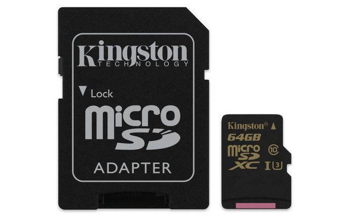 Карта памяти MicroSD 64GB Class 10 U3 Kingston SDCG/64GB, фото 2