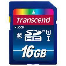 Карта памяти SD 16GB Class 10 U1 Transcend TS16GSDU1, фото 2