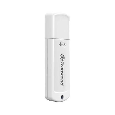 USB Флеш 4GB 2.0 Transcend TS4GJF370 белый