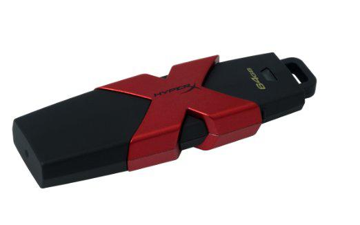 USB Флеш 64GB 3.1 Kingston HXS3/64GB черный