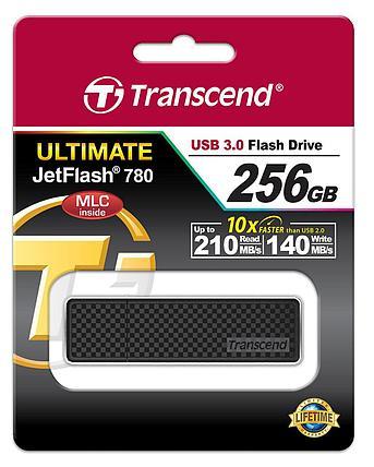 USB Флеш 256GB 3.0 Transcend TS256GJF780 черный, фото 2