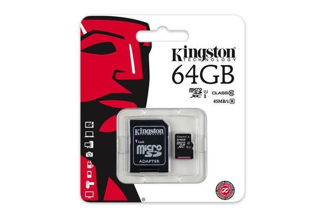 Карта памяти MicroSD 64GB Class 10 U1 Kingston SDC10G2/64GB, фото 2