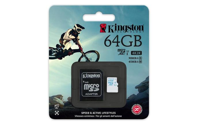 Карта памяти MicroSD 64GB Class 10 U3 Kingston SDCAC/64GB, фото 2