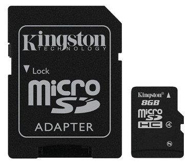 Карта памяти MicroSD 8GB Class 4 Kingston SDC4/8GB, фото 2