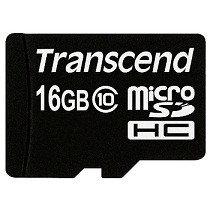 Карта памяти MicroSD 16GB Class 10 Transcend TS16GUSDC10, фото 2