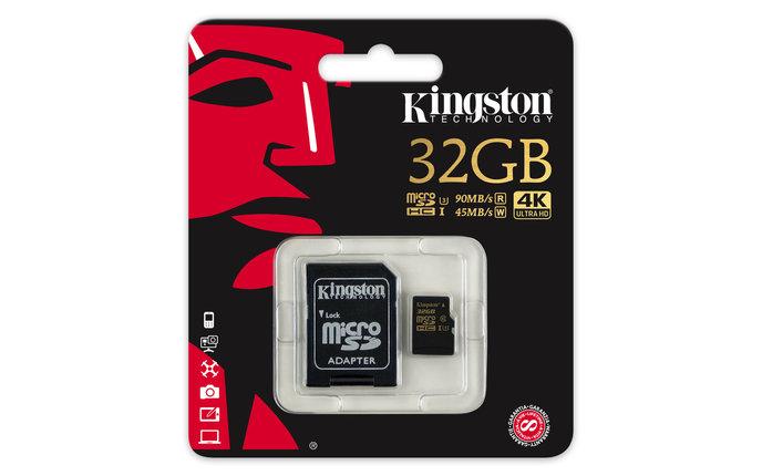 Карта памяти MicroSD 32GB Class 10 U3 Kingston SDCG/32GB, фото 2