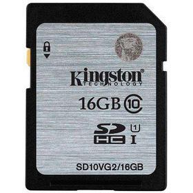 Карта памяти SD 16GB Class 10 U1 Kingston SD10VG2/16GB