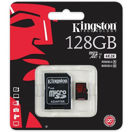 Карта памяти MicroSD 128GB Class 10 U3 Kingston SDCA3/128GB, фото 2