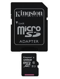 Карта памяти MicroSD 128GB Class 10 U1 Kingston SDC10G2/128GB