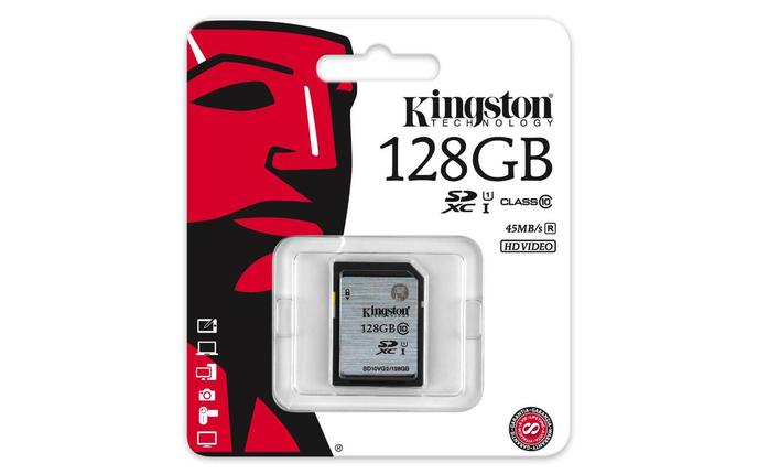 Карта памяти SD 128GB Class 10 U1 Kingston SD10VG2/128GB, фото 2