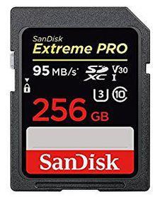 Карта памяти SD 256GB Class 10 U3 SanDisk SDSDXXG-256G-GN4IN