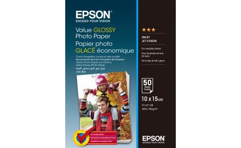 Фотобумага 10x15 Epson C13S400038 Value Glossy Photo Paper  50 sheet
