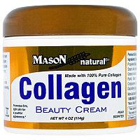Mason Naturals, Крем для лица и тела с коллагеном, с легким запахом груши,(114 г)
