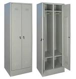 Шкаф металлический для одежды двухсекционный, фото 4