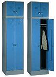 Шкаф металлический для одежды двухсекционный, фото 5