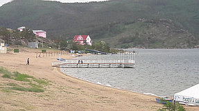 Пирс на озере Жасыбай