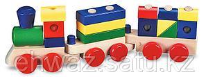Деревянный паровозик-конструктор