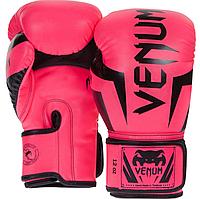 Боксерские перчатки Venum ELITE розовые 8, 10, 12 OZ (Thailand)