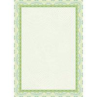 Бумага для сертификатов  DECADRY А4, 25 ЛИСТОВ, ЗЕЛЁНО-САЛАТОВАЯ РАМКА (4020)