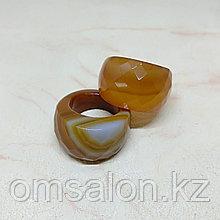 Перстень из граненого агата
