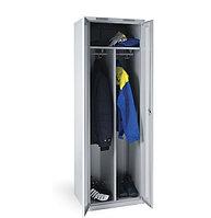 Шкаф металлический для одежды двухсекционный, фото 1