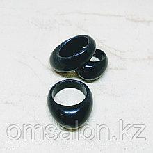 Перстень из черного агата