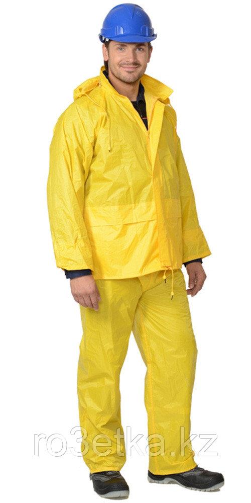 """Костюм """"ЛИВЕНЬ"""" нейлоновый желтый (куртка, брюки) в индивидуальной упаковке"""