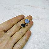 Коннекторы с натуральным агатом и кварцем, фото 2