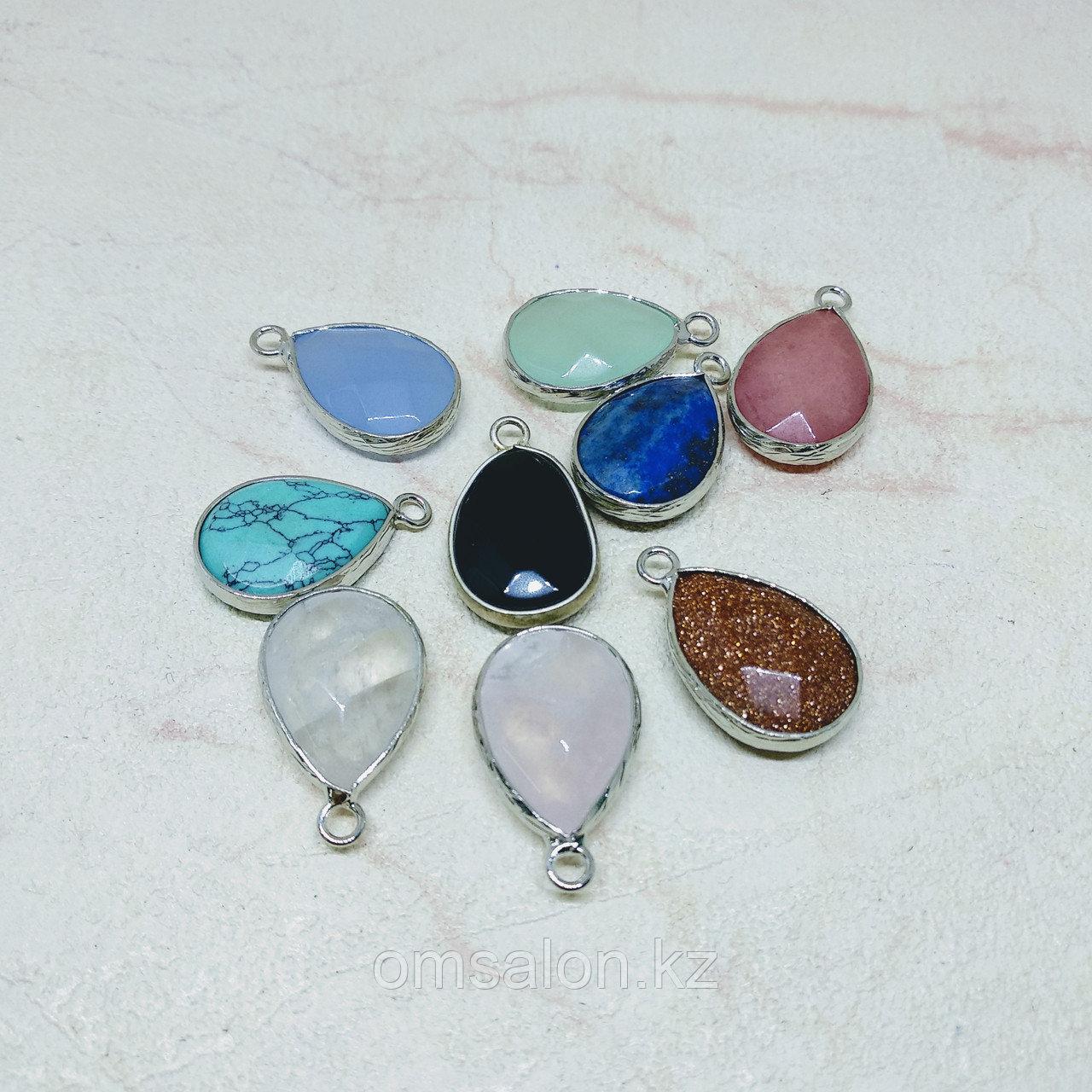 Кулоны Капля с натуральным камнем