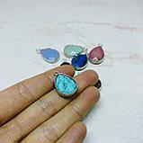 Кулоны Капля с натуральным камнем, фото 2
