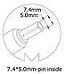 Блок питания для ноутбука HP, 19V 7.1A, 135W, 7.4x5.0 mm, фото 3