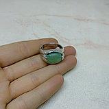 Кольцо с натуральным нефритом, фото 3