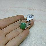 Кольцо с натуральным нефритом, фото 5