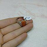 Кольцо с натуральным сердоликом, фото 3