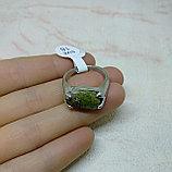 Кольцо с яшмой унакит, фото 3