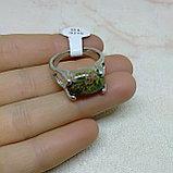 Кольцо с яшмой унакит, фото 5