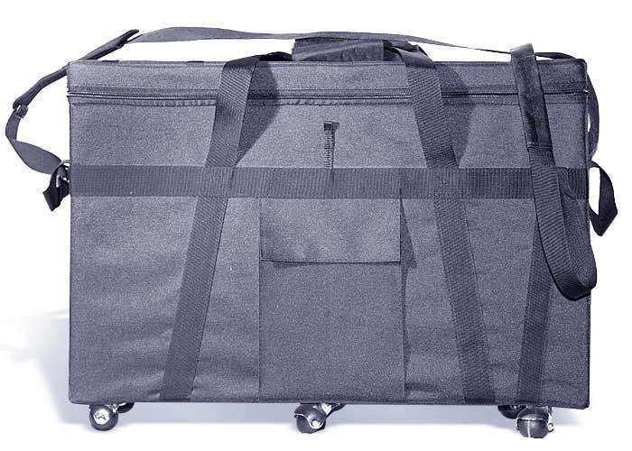 Баул инкассаторский с вертикальной загрузкой на 3 кассеты на колесах.