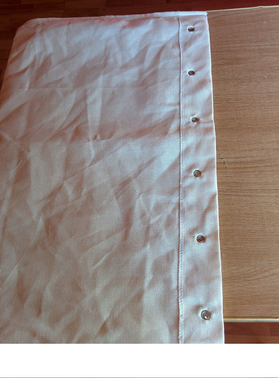 """Мешок 60*80см с люверсами. Ткань """"двунитка"""" аппретированная плотн.240 г/м.кв."""
