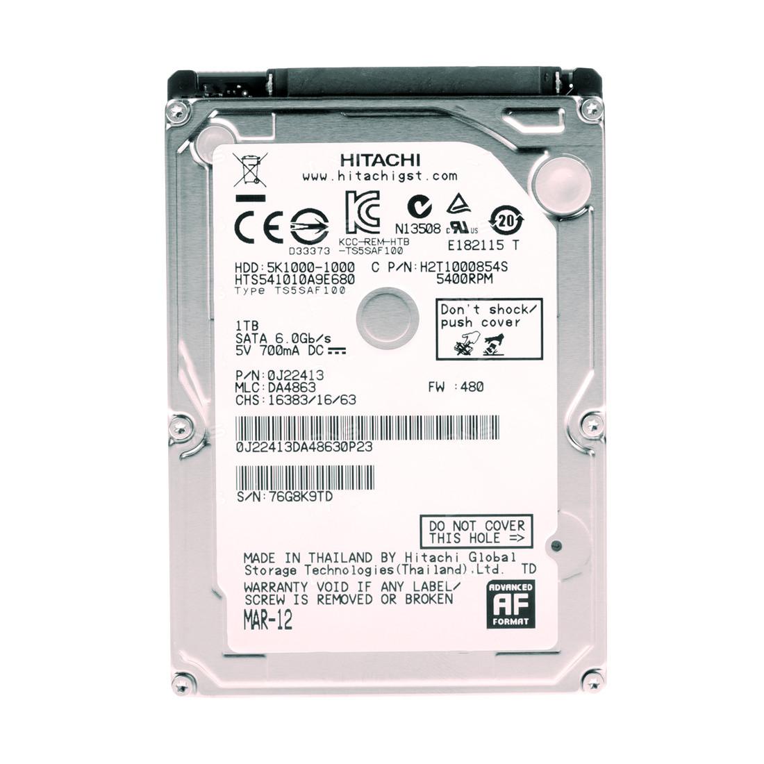 """Жёсткий диск для ноутбука Hitachi (HGST) TRAVELSTAR 5K1000 HDD 1Tb HTS541010A9E680 2,5"""""""