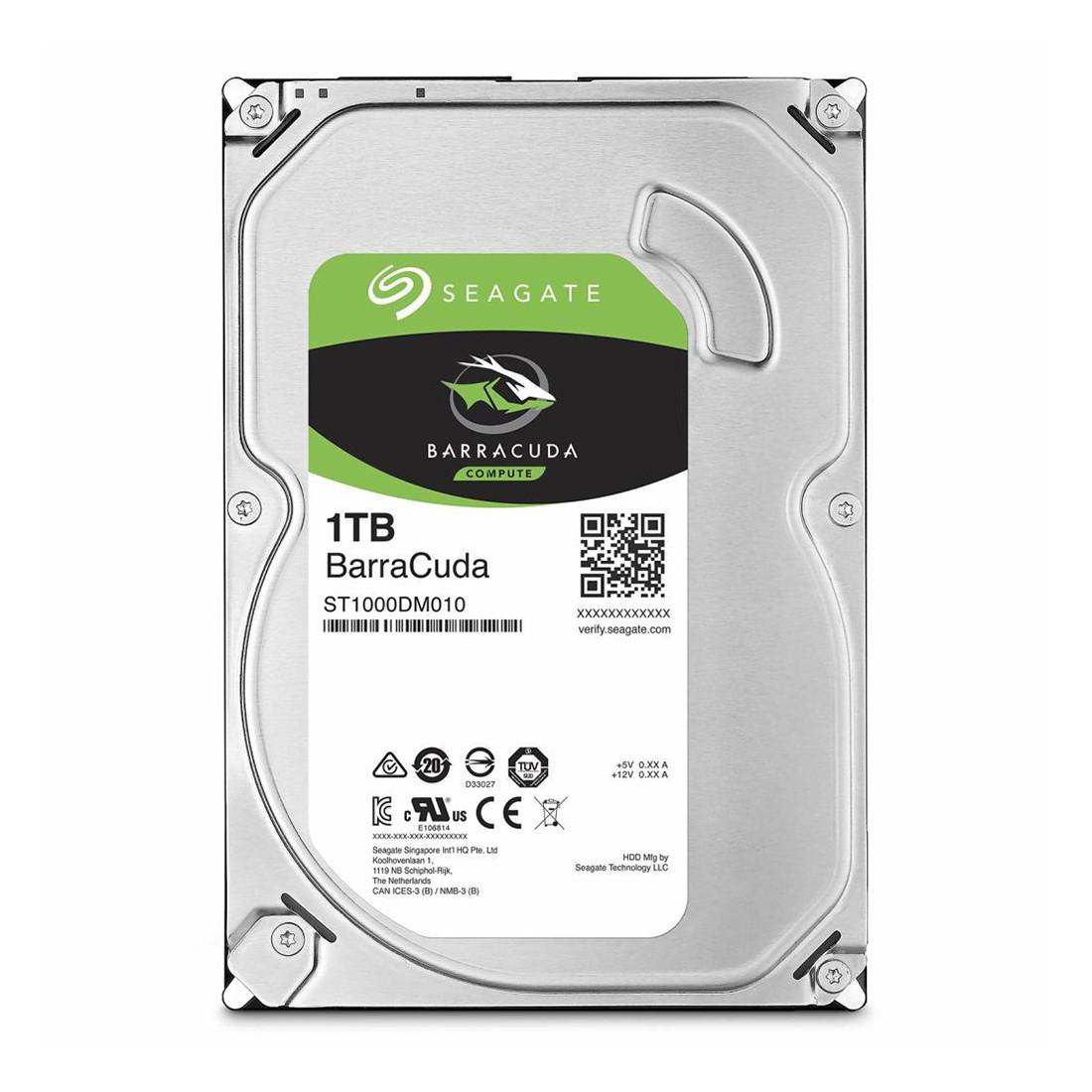 "Жёсткий диск HDD 1Tb Seagate Barracuda SATA6Gb/s 7200rpm 64Mb 3,5"" ST1000DM010"