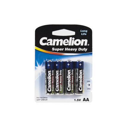 Батарейка CAMELION Super Heavy Duty R6P-BP4B, фото 2