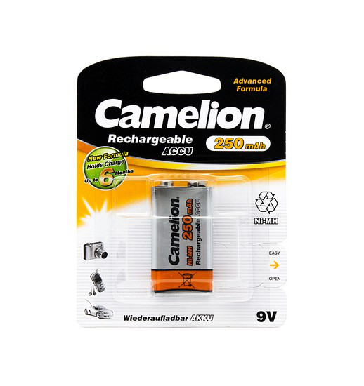 Аккумулятор CAMELION Rechargeable NH-9V250BP1
