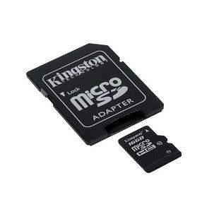 Карта памяти Kingston SDC10G2/16GB Class 10 16GB + адаптер для SD, фото 2