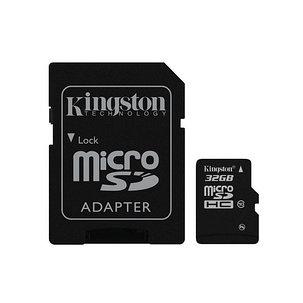 Карта памяти Kingston SDC10G2/32GB Class 10 32GB + адаптер для SD, фото 2