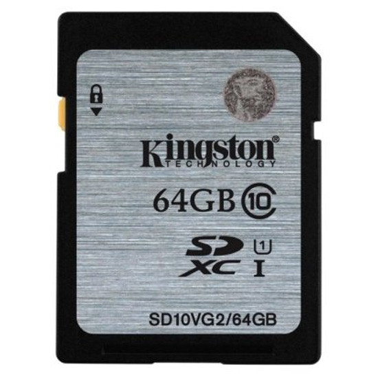 Карта памяти Kingston SD10VG2/64GB Class 10 64GB