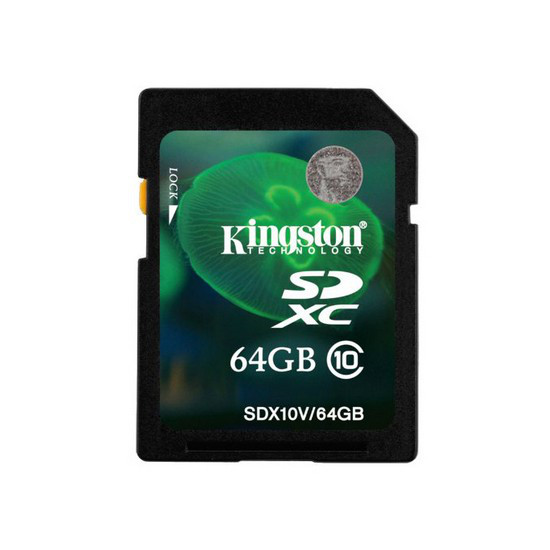Карта памяти Kingston SDX10V64GB Class 10 64GB