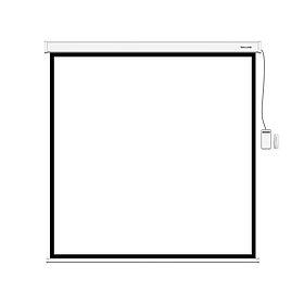 Экран (с пультом Д/У) для проекторов Deluxe DLS-E203xW