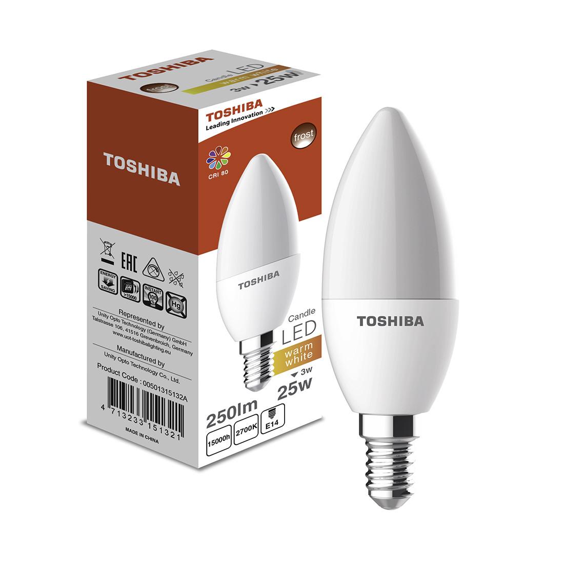 Светодиодная лампа Toshiba Froste 3W (25W) 2700K 250lm E14 ND Тёплый